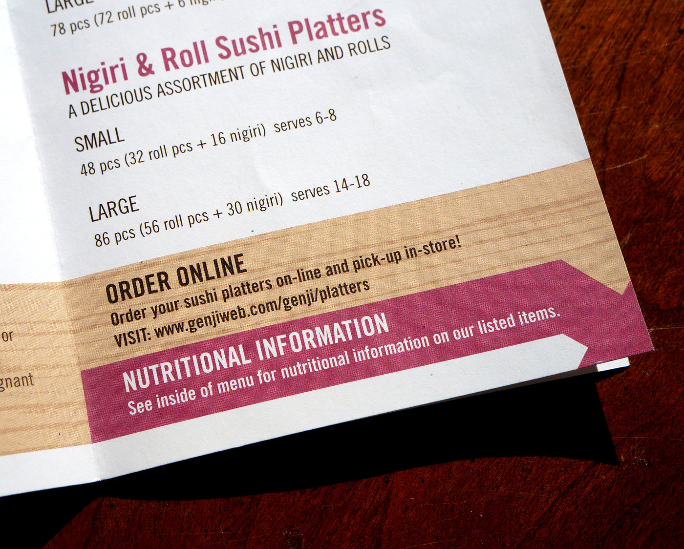 Genji sushi menu by rosali middleman at coroflot be the first to comment on this project reheart Gallery