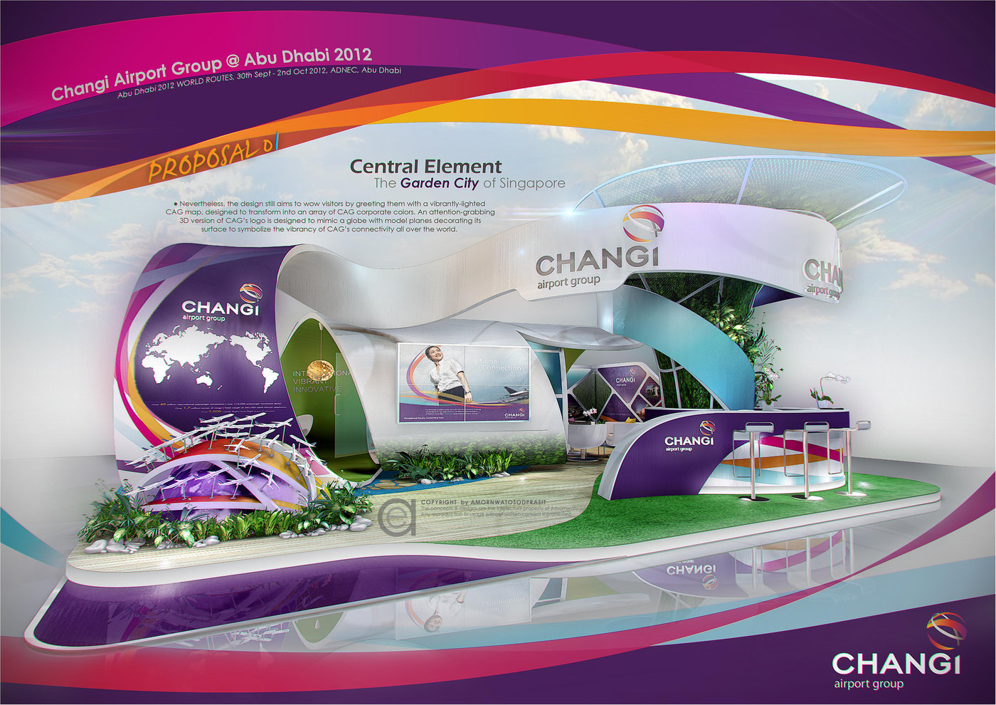 3d Exhibition Designer Jobs In Singapore : Exhibition design special booth by amornwat