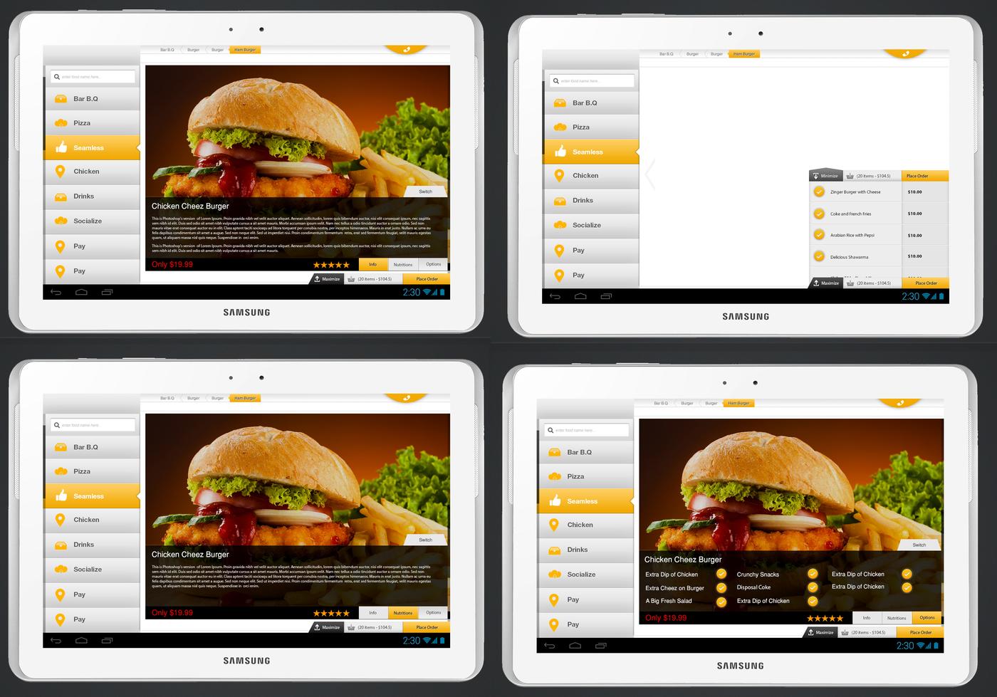 Restaurant application design by muhammad ahmed at