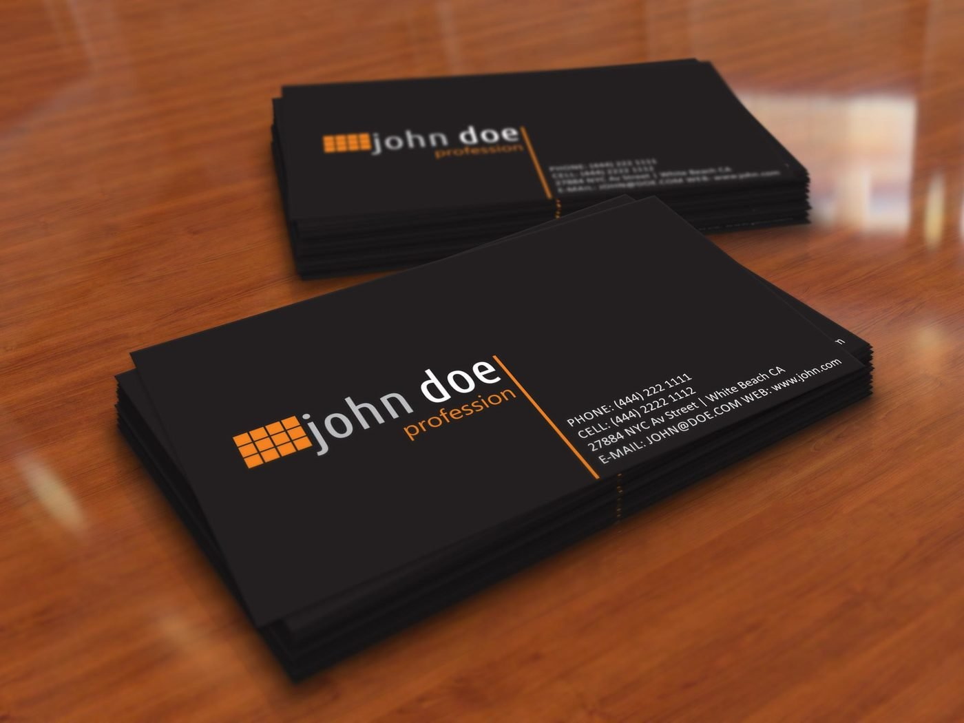 Simple Black Personal Business Card Template by Borce Markoski at ...