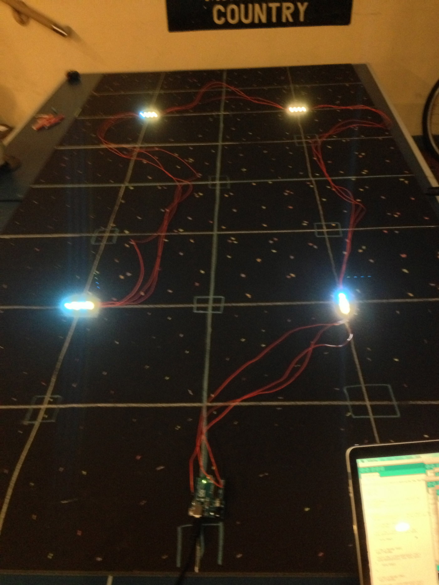 Fiber optic star ceiling by kendall helbert at coroflot led strips laid out on the back of the star ceiling dailygadgetfo Image collections