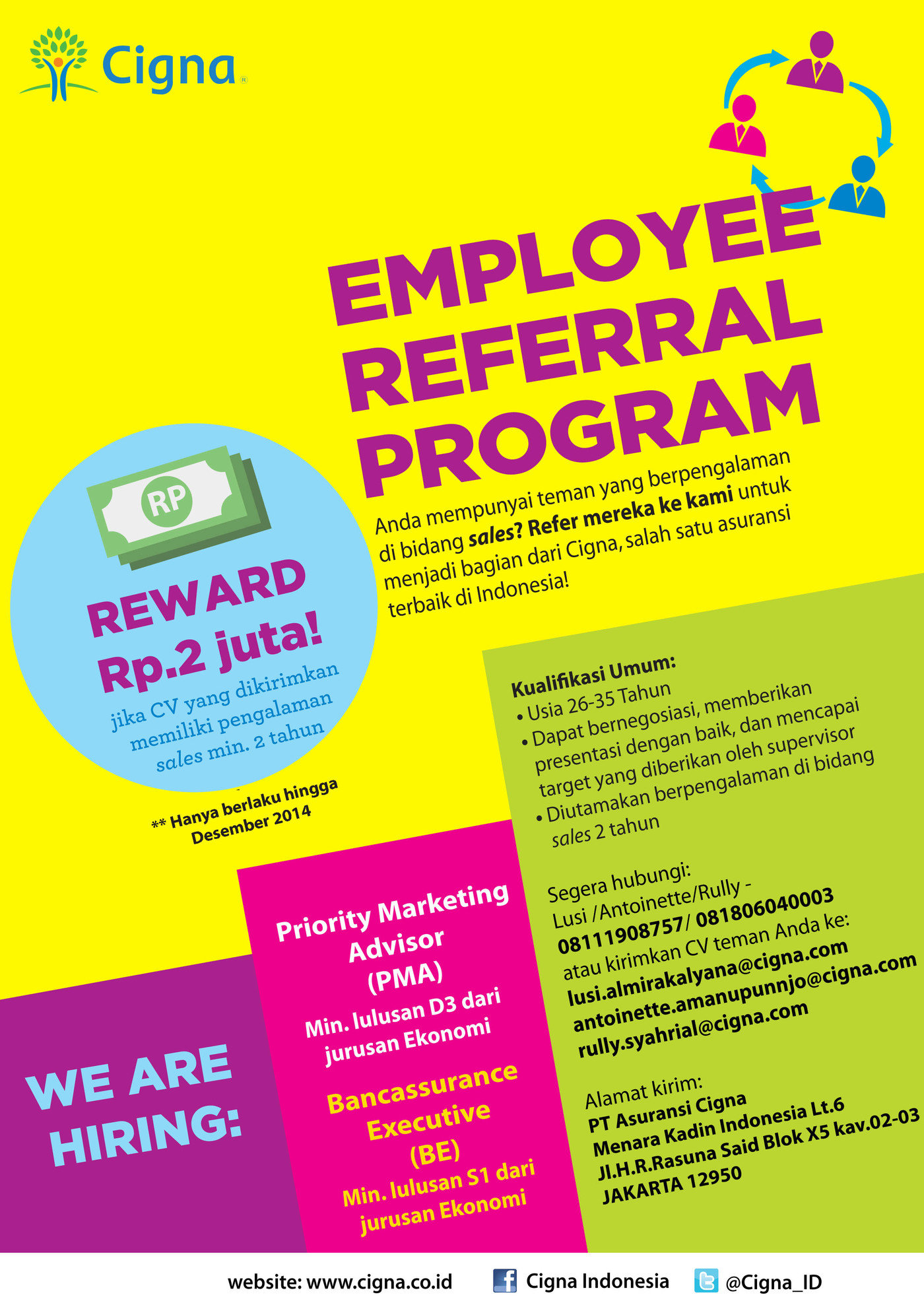 Employee Referral Program 2014 Collaterals By Marshiela