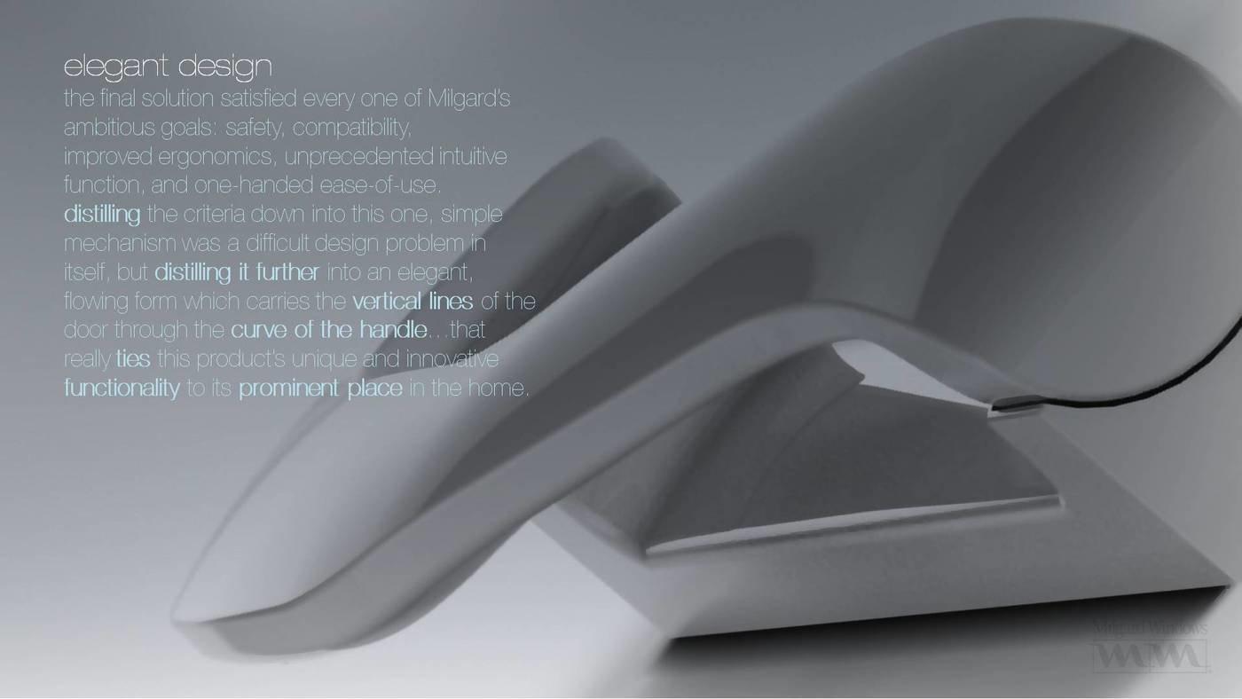 Milgard smarttouch sliding glass door handle by tim for Door design ergonomics