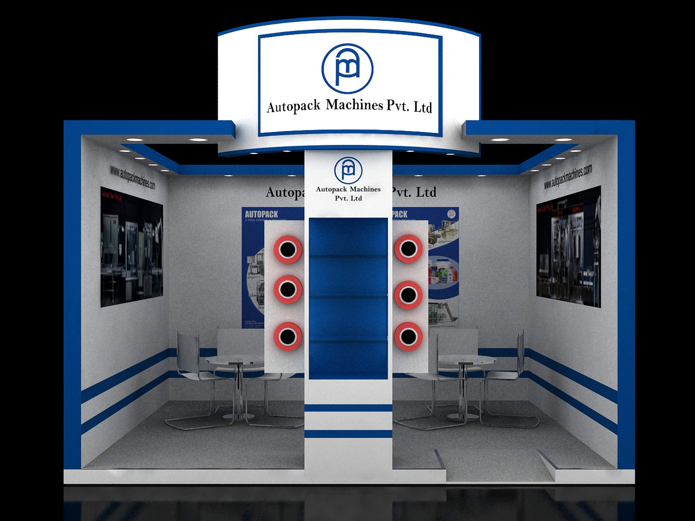 Large Exhibition Stall : Autopack sqm stall by dipesh bhovad at coroflot
