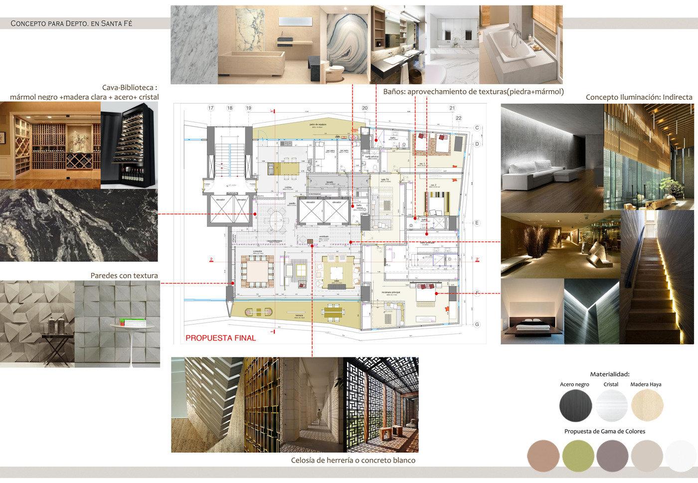 Dise o interior by martha mar a mondrag n marroqu n at - Proyecto de diseno de interiores ...
