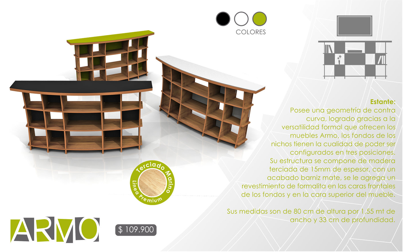 Muebles Armo By Sebastian Navarro Montero At Coroflot Com # Muebles Geometricos