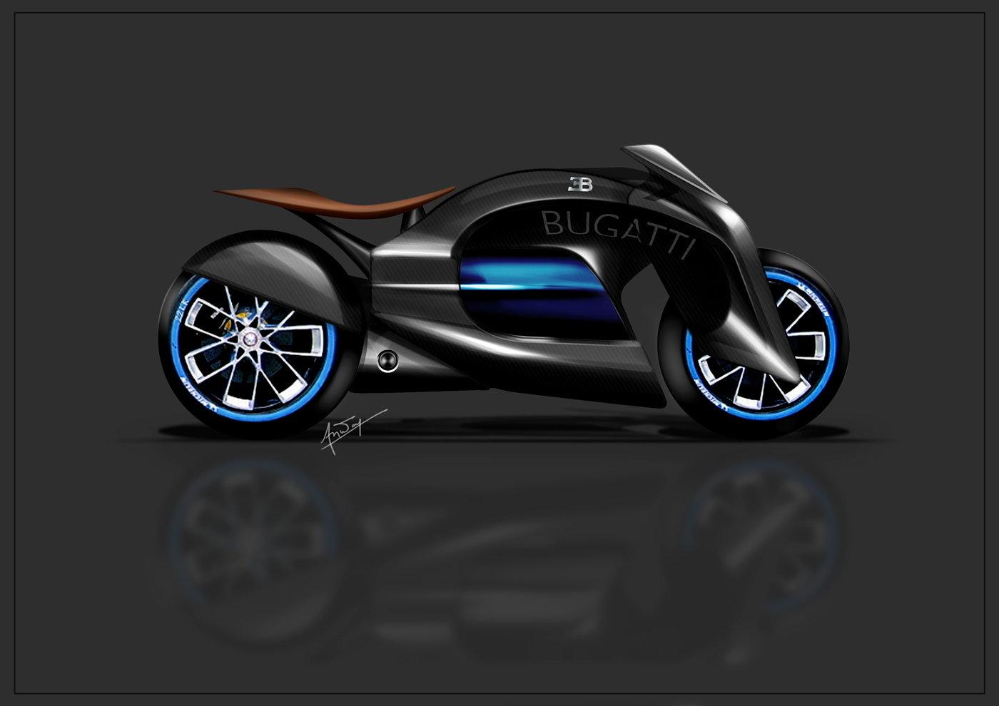 Bugatti Bike Design Concept By Mohammed Anwar At