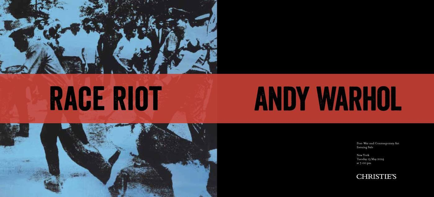 andy warhol red race riot