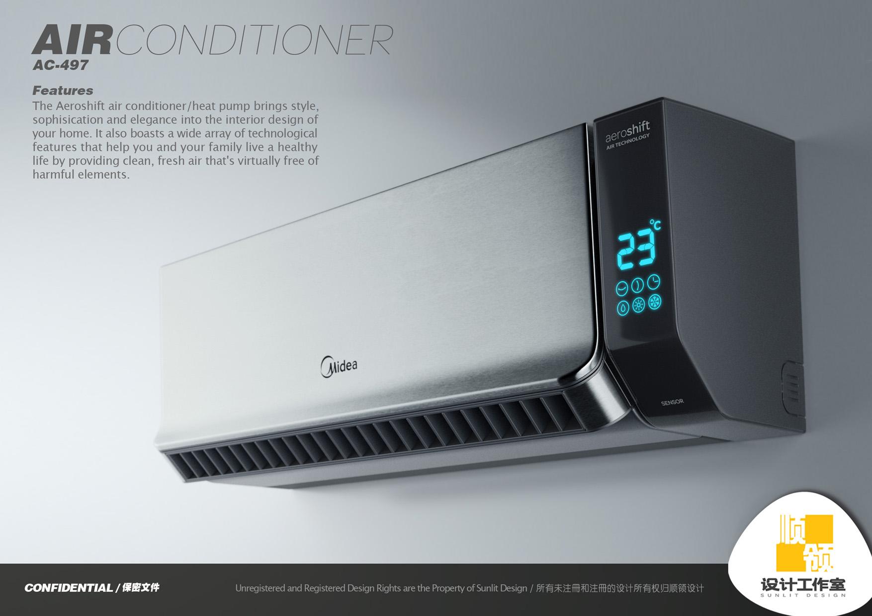 Midea Air Conditioner by Hugo Cailleton at Coroflot.com #CB9800