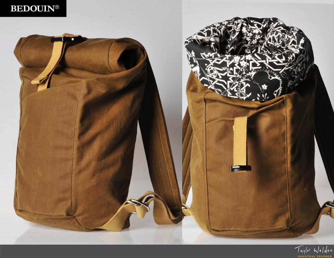 Bedouin Delireis Roll Top Backpack By Taylor Welden