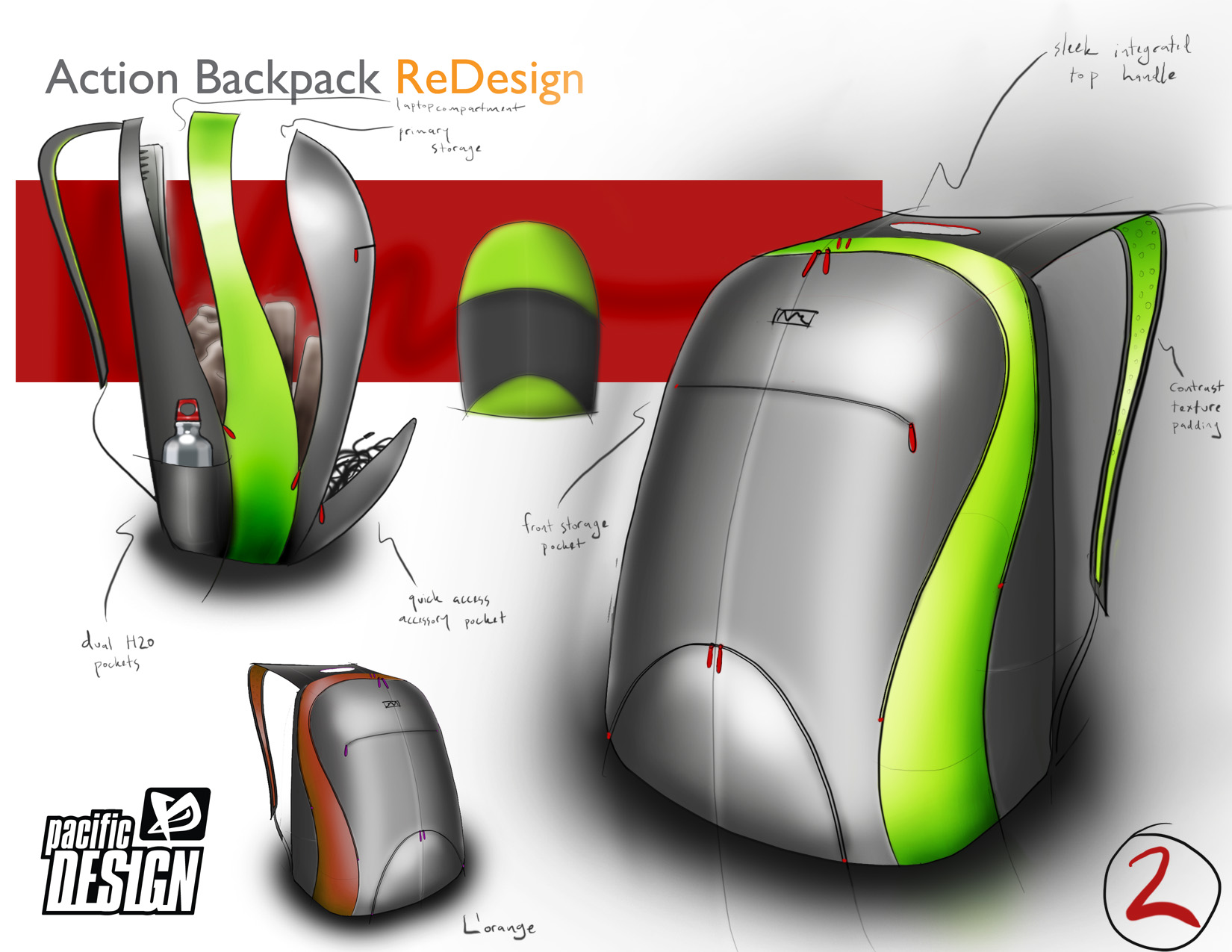 Pacific design technology bags and packs by taylor for Design teich