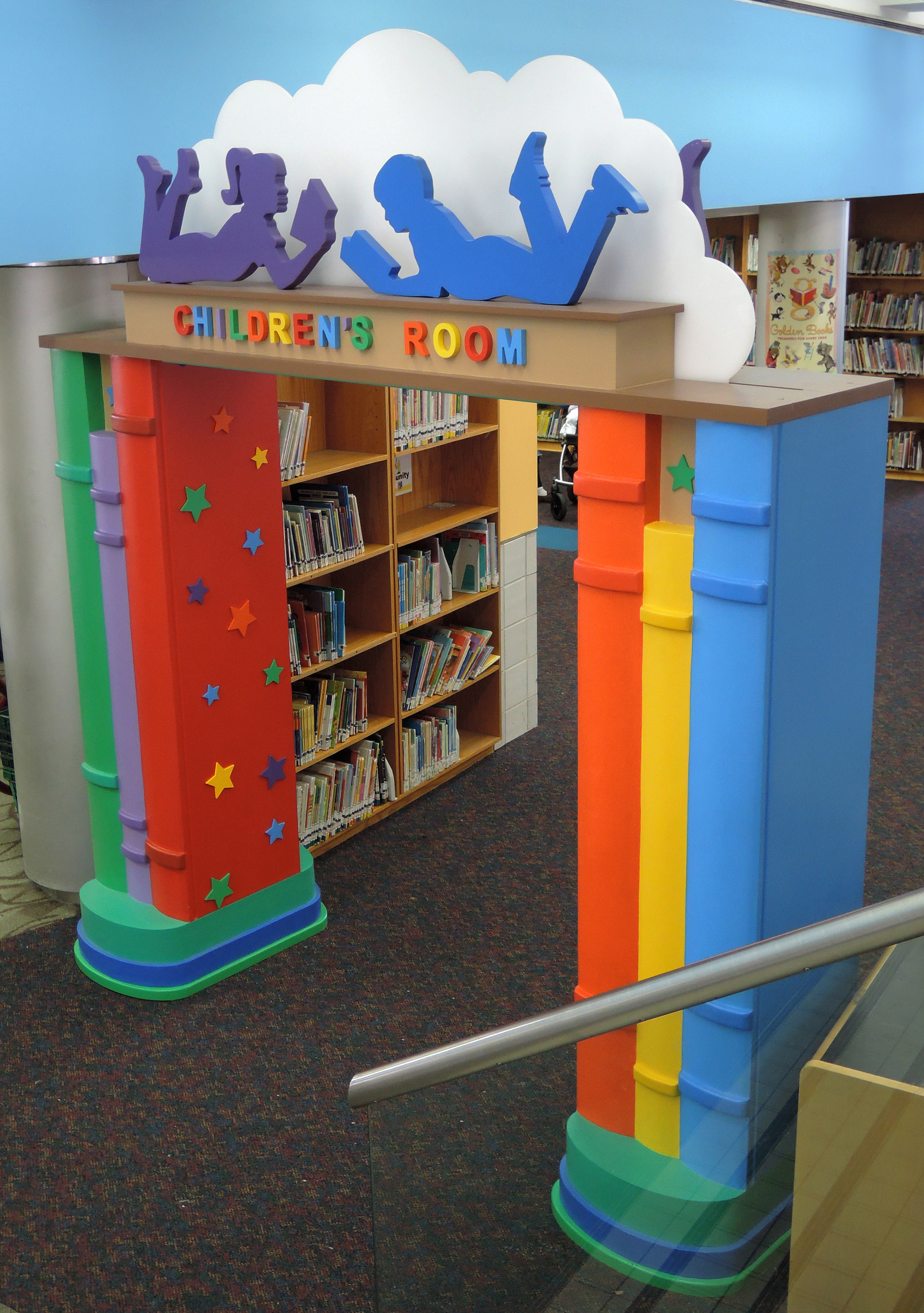 Childrens library design by janice davis at for Activity room decoration