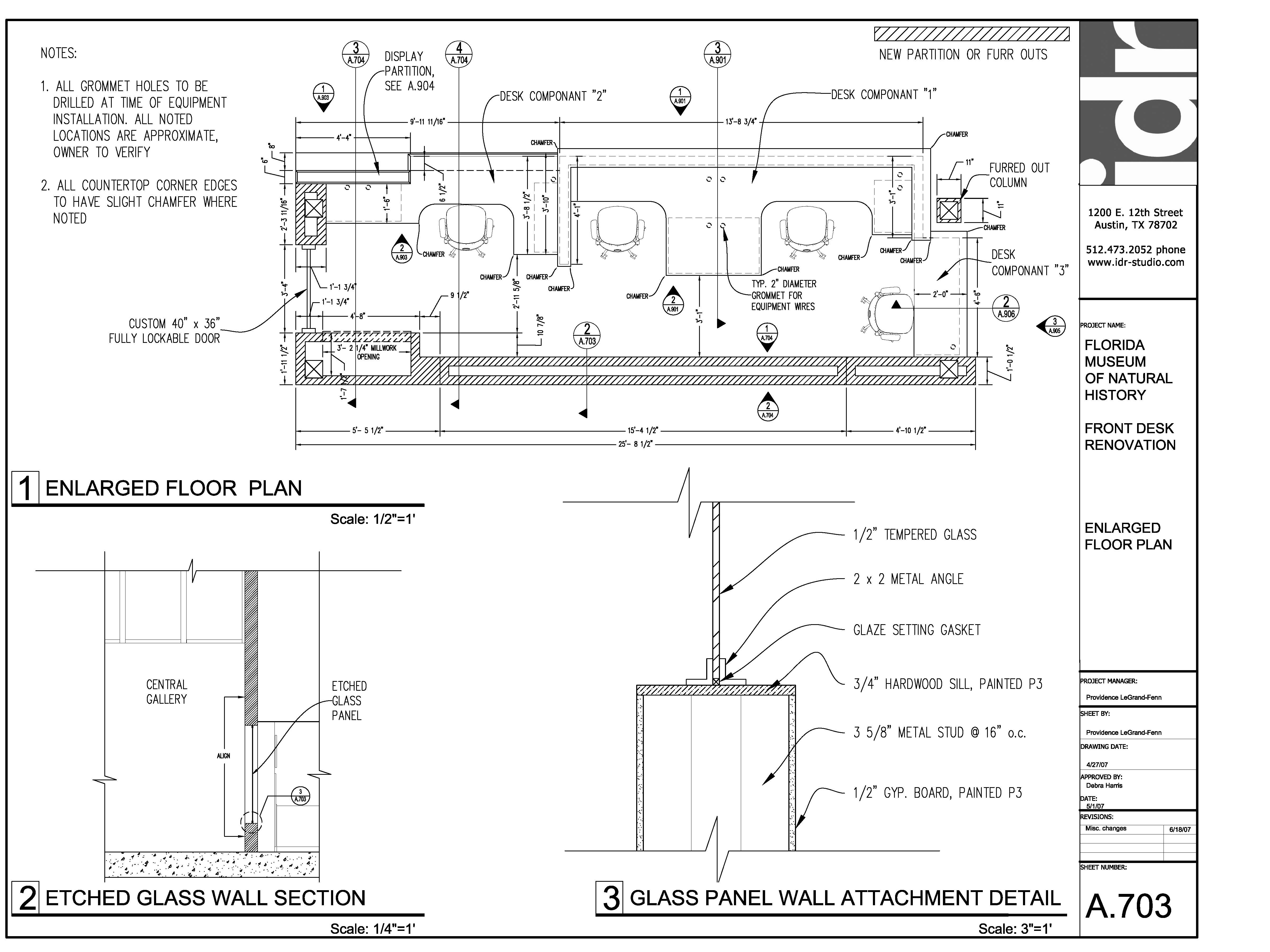 Woodworking reception desk construction drawings PDF Free Download