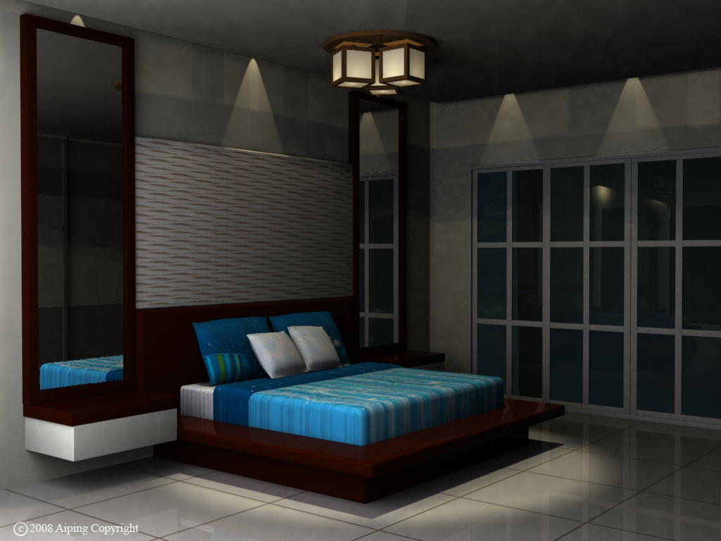 Interior design by wong ai ping at for Model bedroom interior design