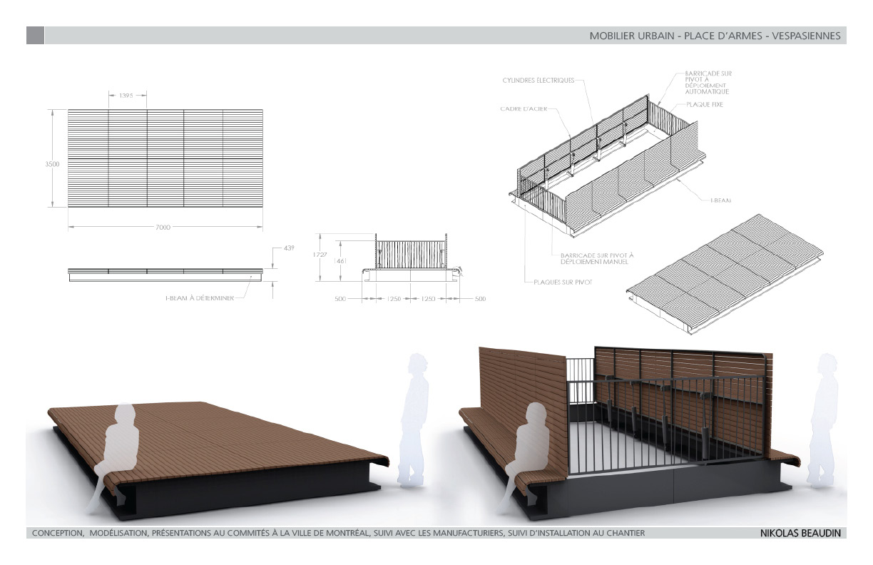 Street Furniture Place d Armes by Nikolas Beaudin at
