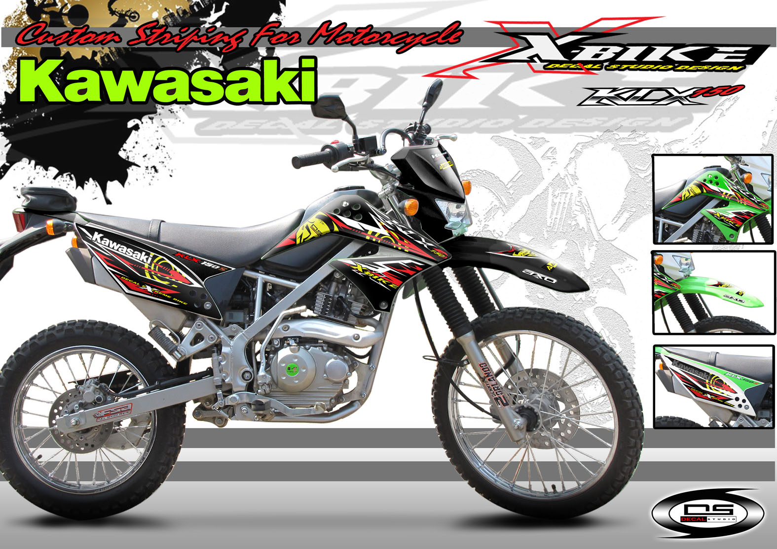 Kawasaki KLX 150 Decals 1575 x 1113 · 423 kB · jpeg