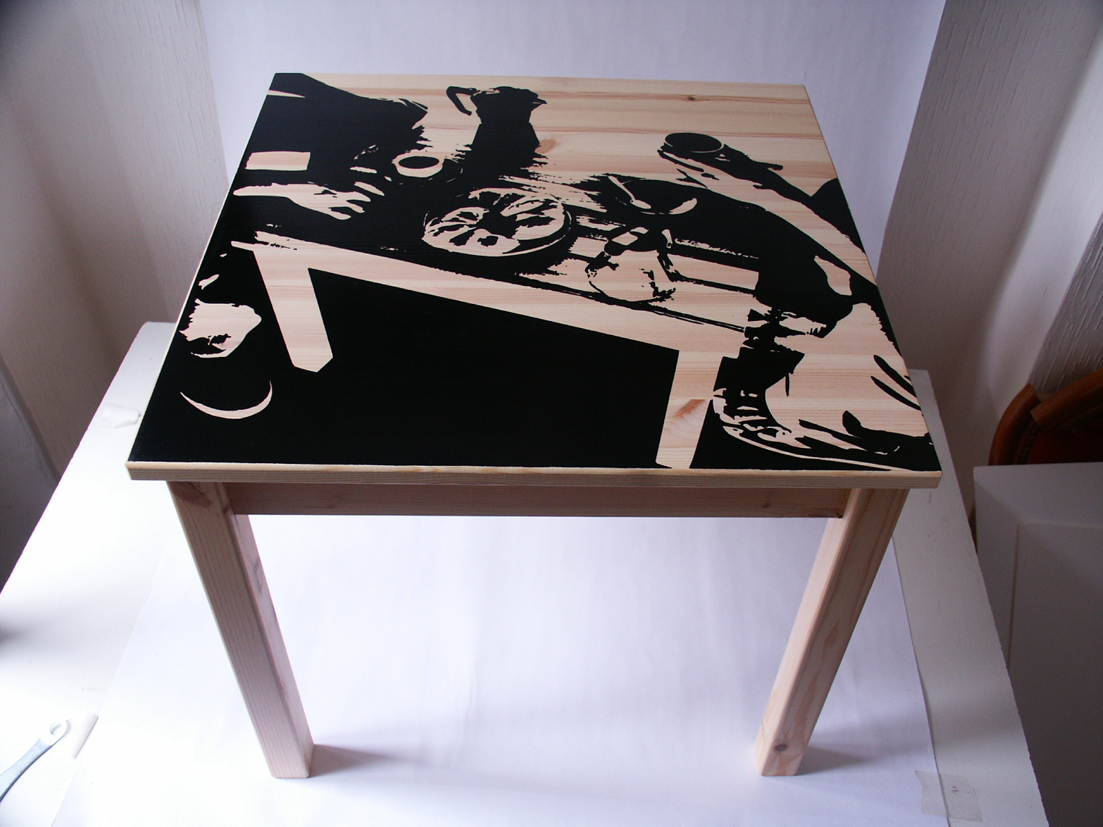 Custom ikea table by sebastien dumas at - Customiser table ikea ...