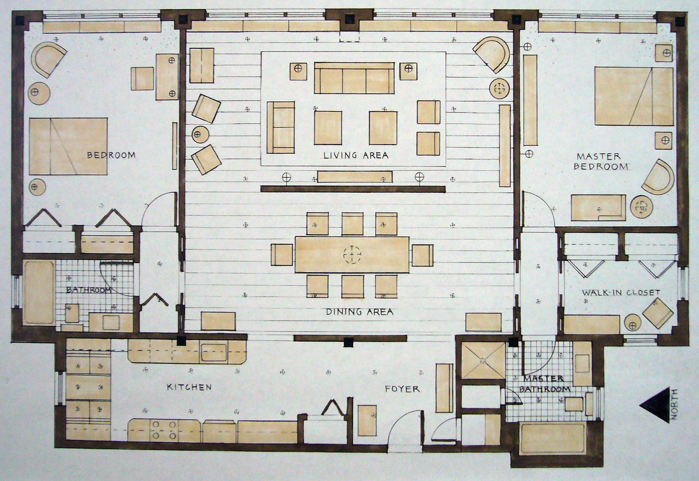 Student work by michael wickersheimer at for Floor plans manhattan apartment buildings
