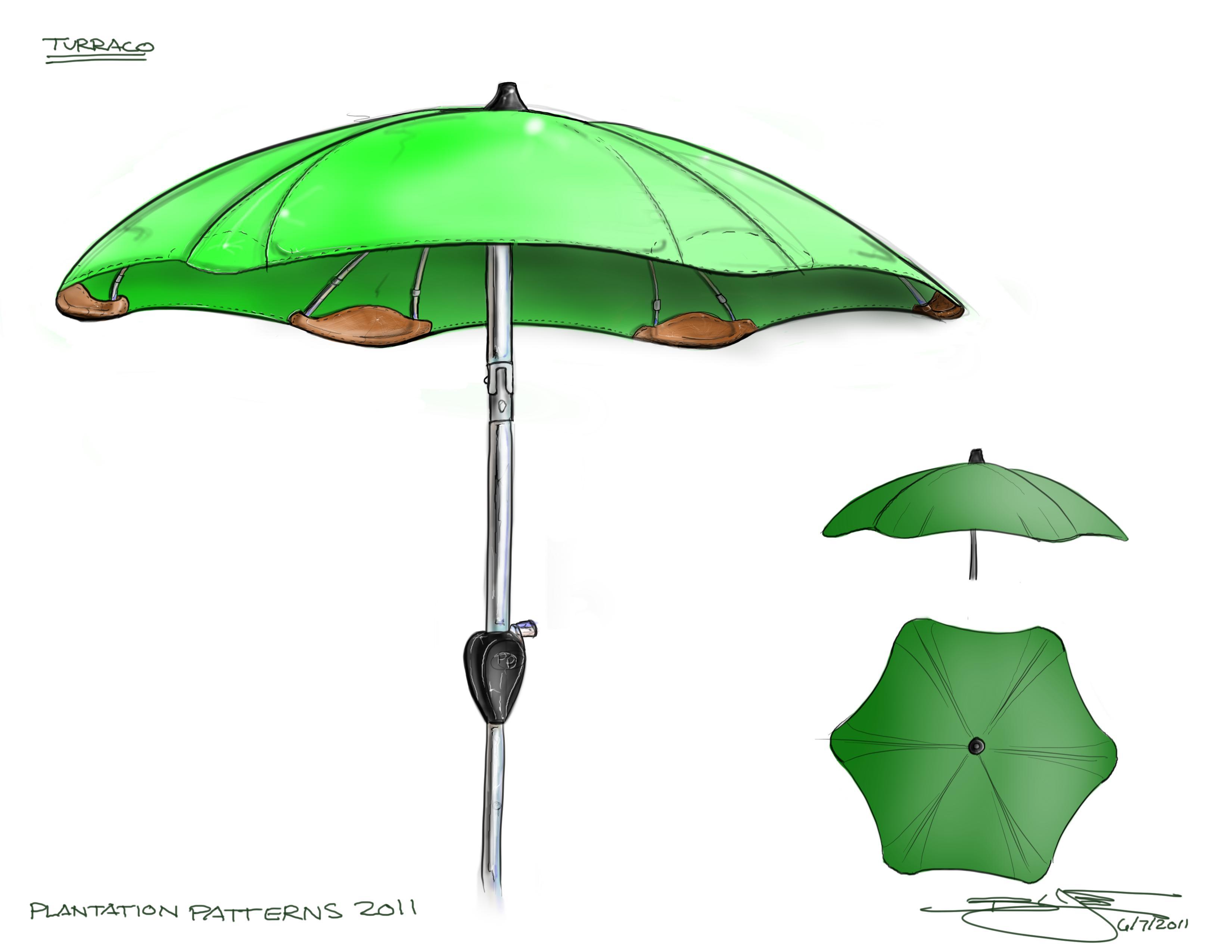 sketchbook pro by brian love at coroflotcom - formed umbrella sketch  sketchbook pro rendering of a modern umbrella