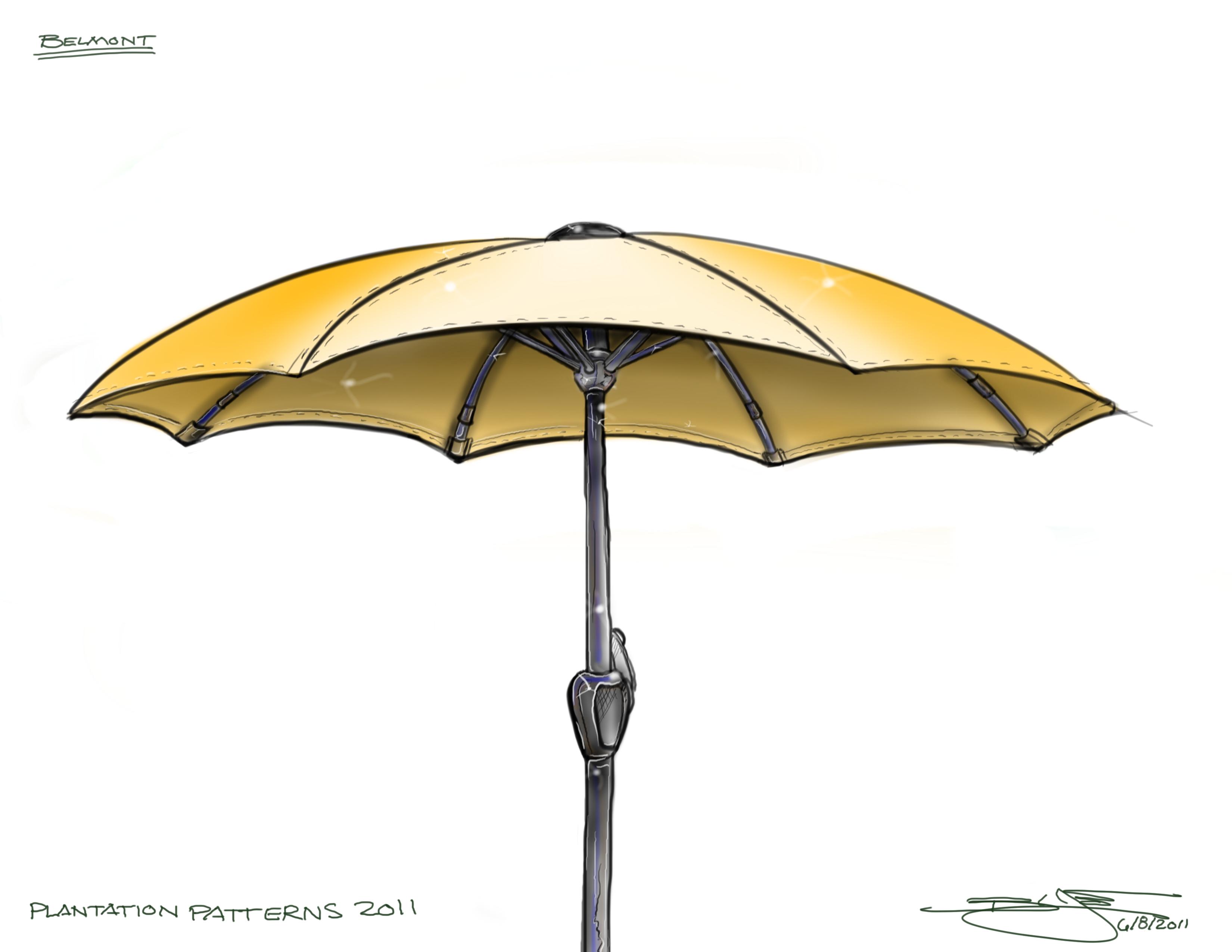 sketchbook pro by brian love at coroflotcom - modern umbrella sketch  sketchbook pro rendering of a modern umbrelladesign
