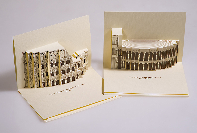 3d popup kirigami postcards by giovanni russo at