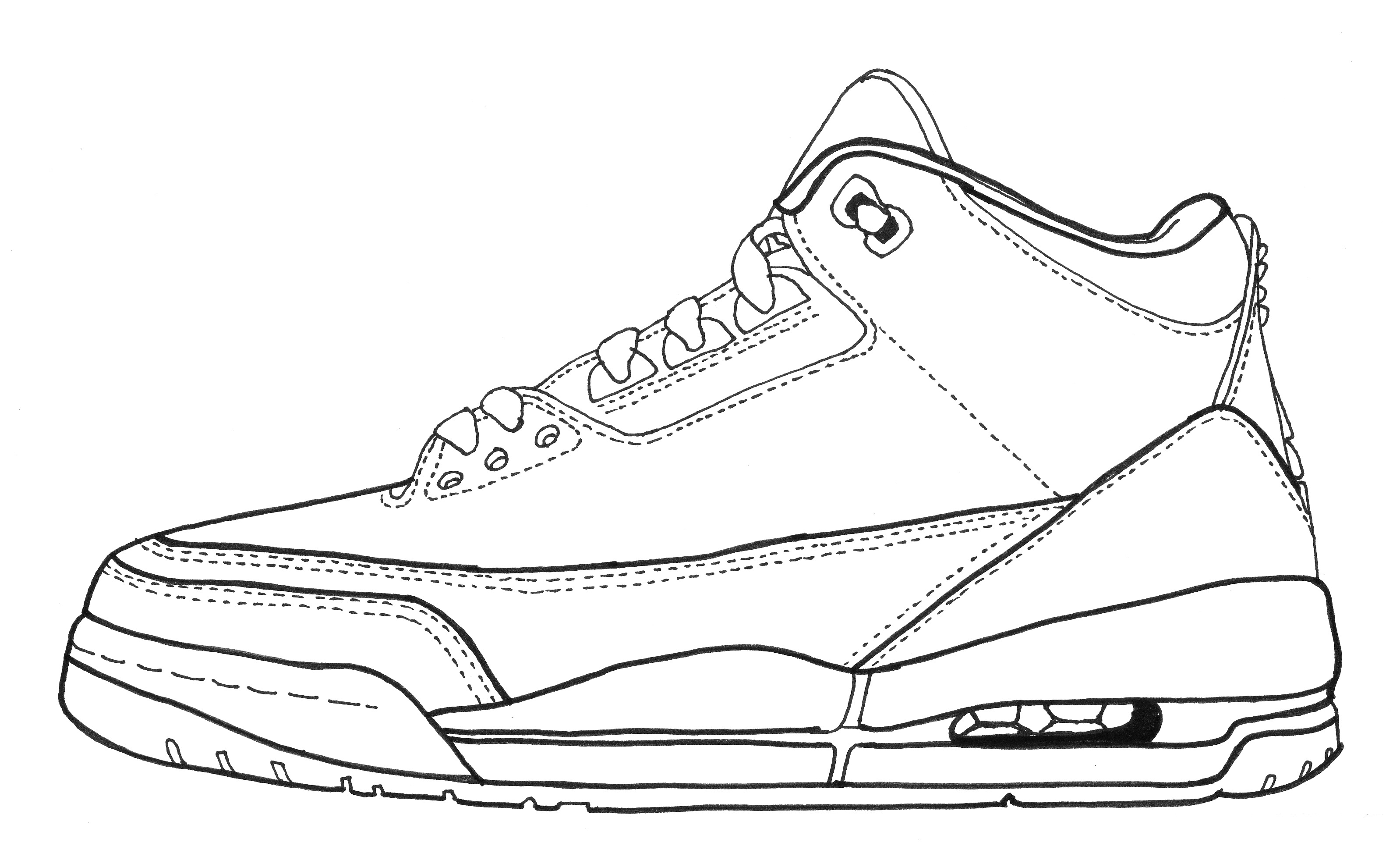 Drawings Of Air Jordan 3