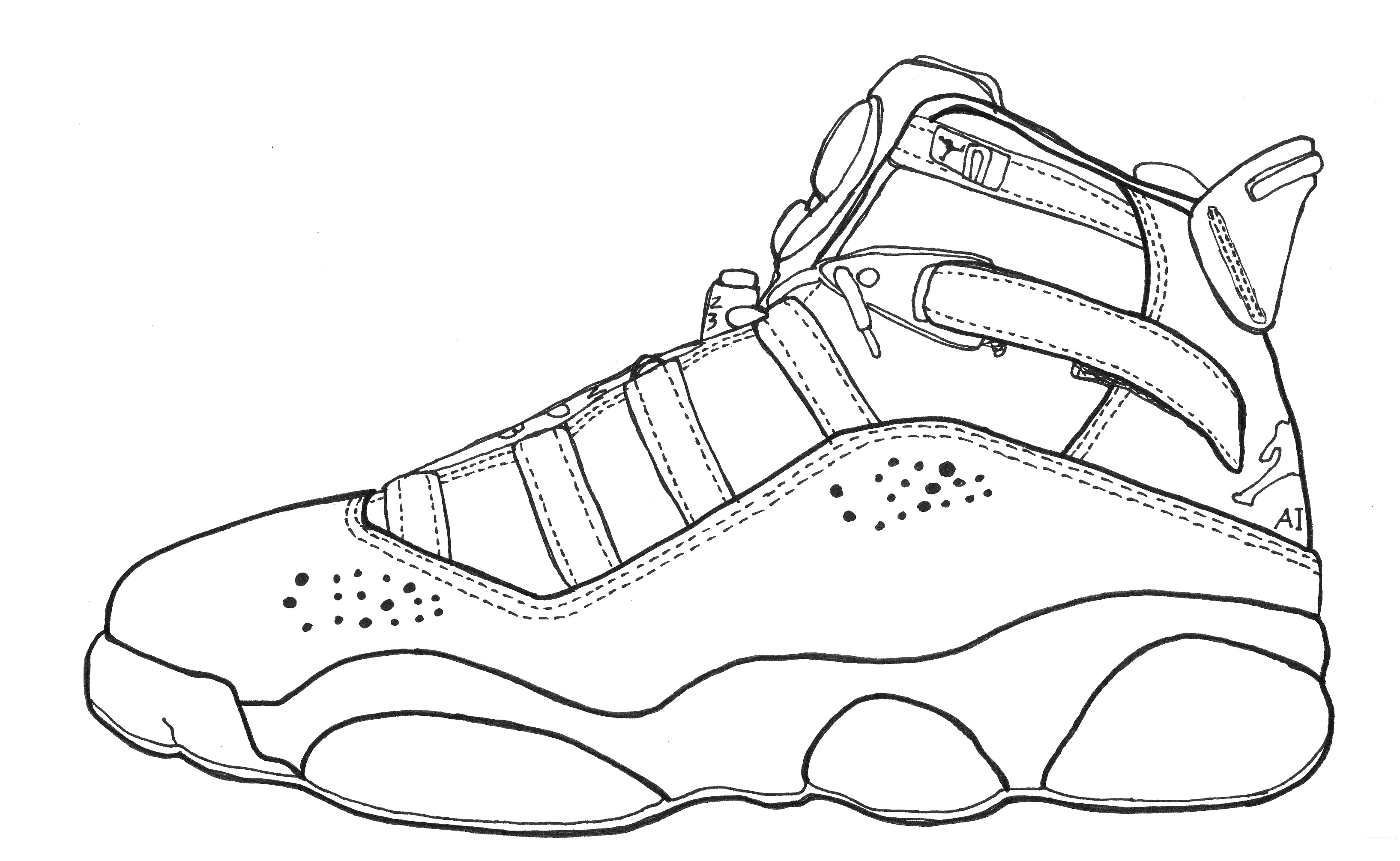 jordan coloring pages shoes - photo#12