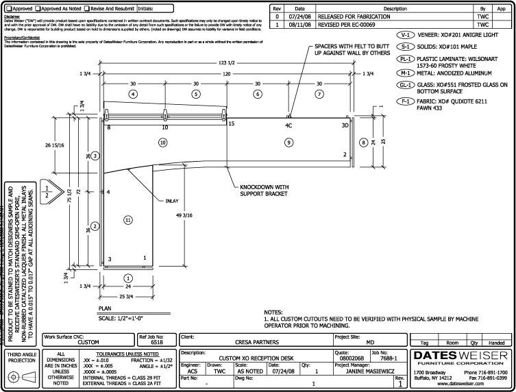 Reception Desk Detail Cad Drawing Custom Reception Desk Plan