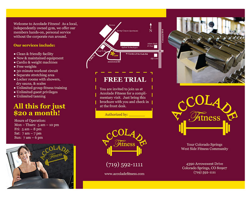 Brochure by Jason Miller at Coroflot – Gym Brochure