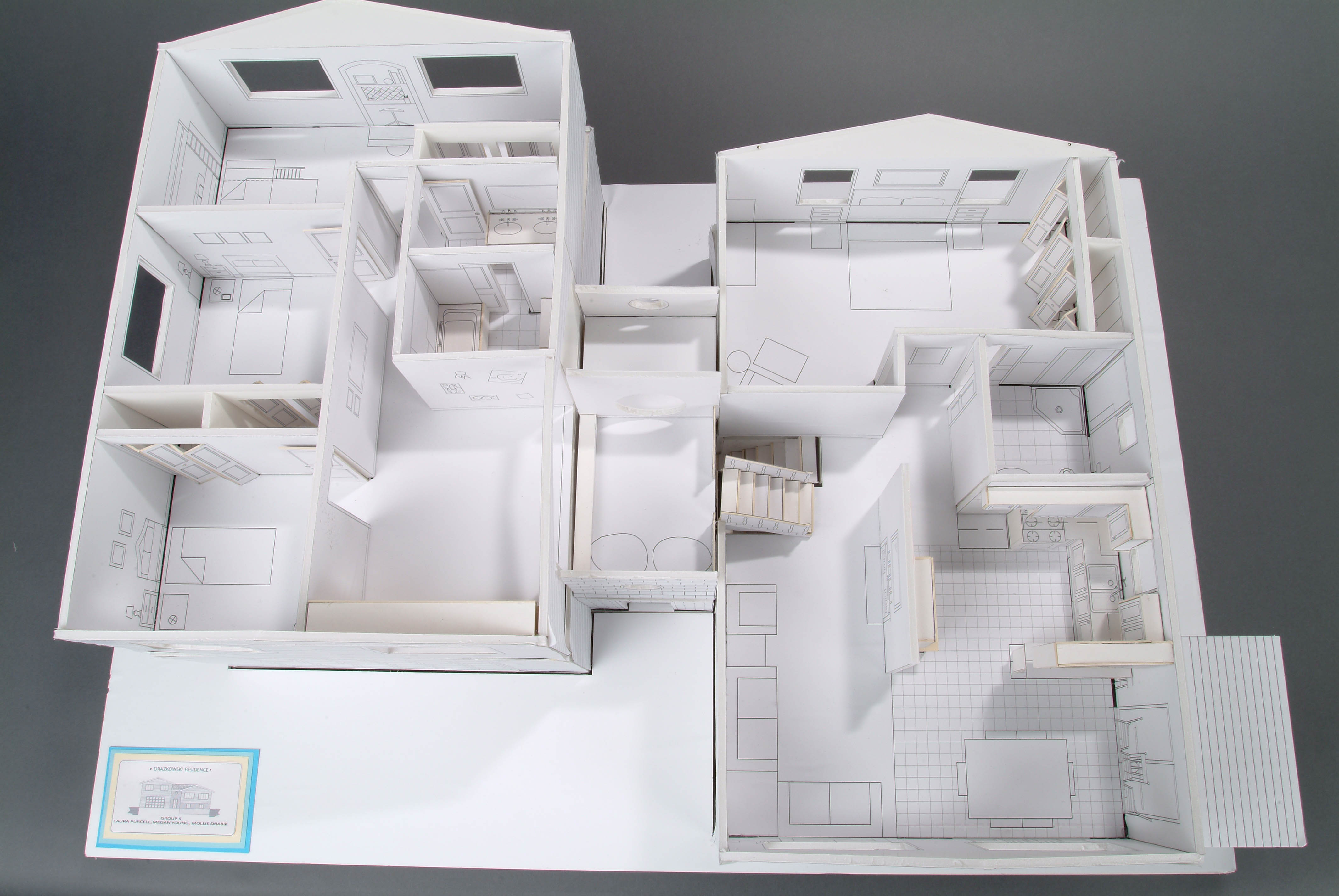 Foam core house model