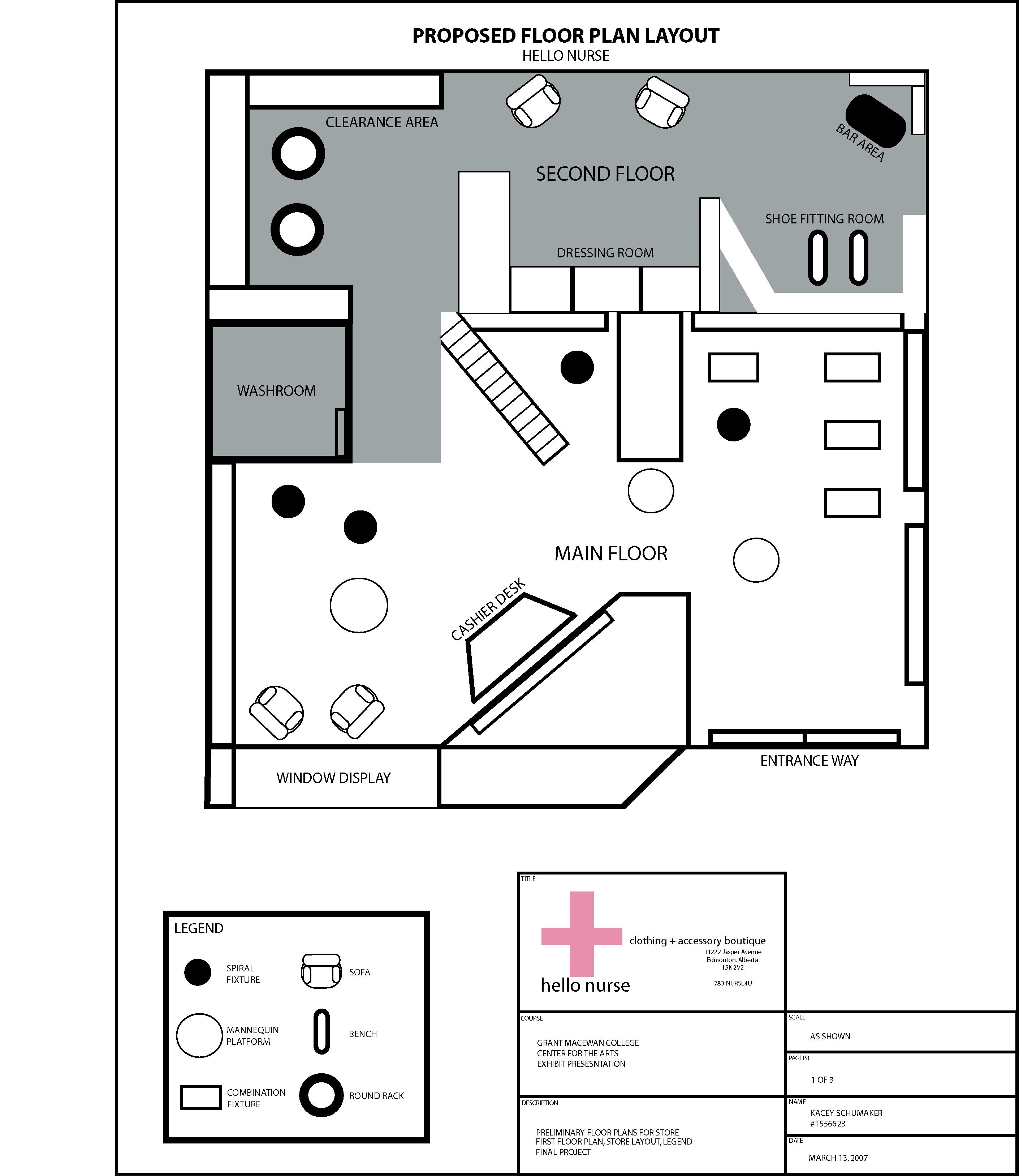Clothing store floor plan. Girls clothing stores