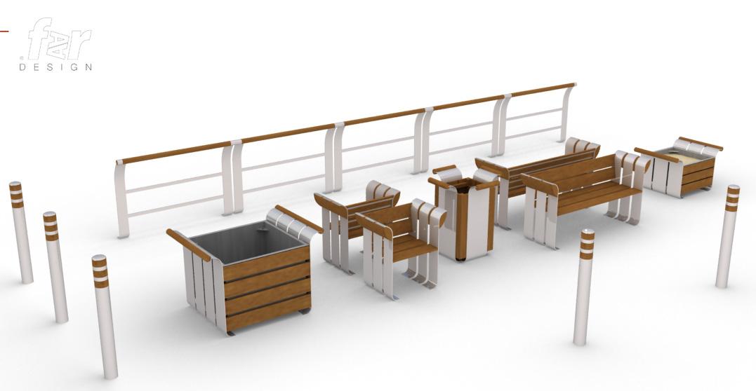 Urban furniture by balduc arnaud at for Meuble urbain