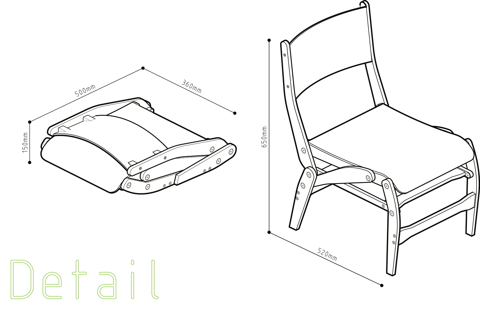 folding chair by Jacob Murray at Coroflot