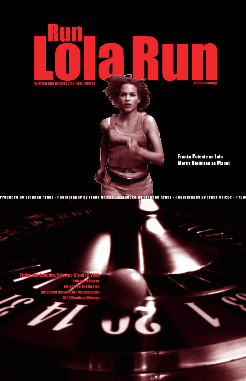essay on run lola run Run lola run was a 1998 film directed by tom tykwer (smith 94) the film stars franka potente (lola) and moritz bleibtreu (manni) as the main characters.