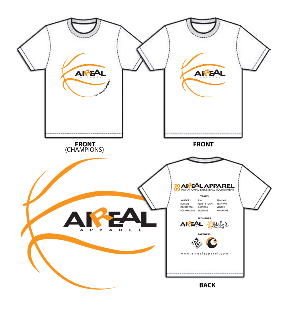 Design t shirt illustrator - Aireal Apparel Basketball Tournament T Shirts These T Shirt Designs Were Created In Adobe Illustrator
