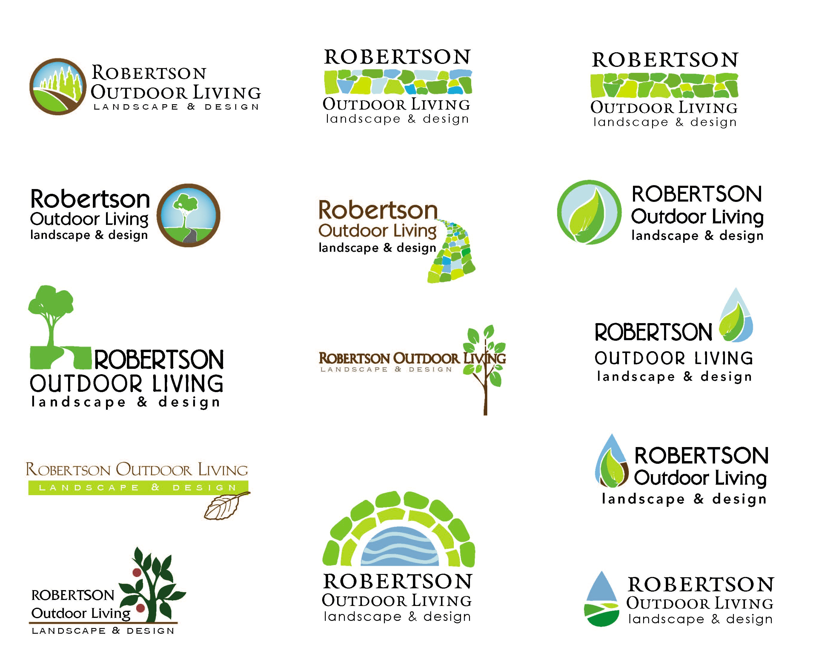 Robertson Landscaping Logos The Client Was Starting An Upscale Landscape Architecture Business And Needed A Logo