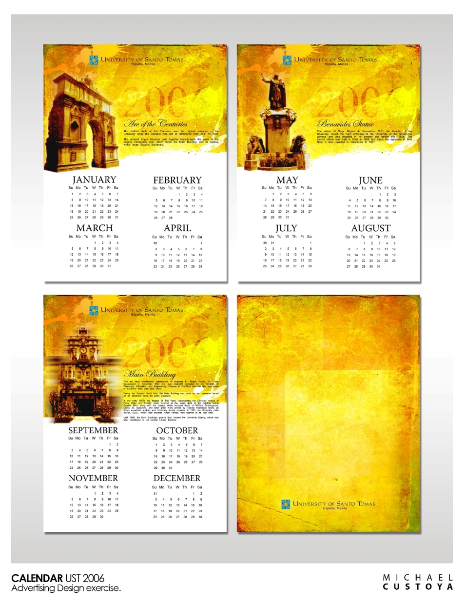 Calendar Design Layout : Calendar by michael custoya at coroflot