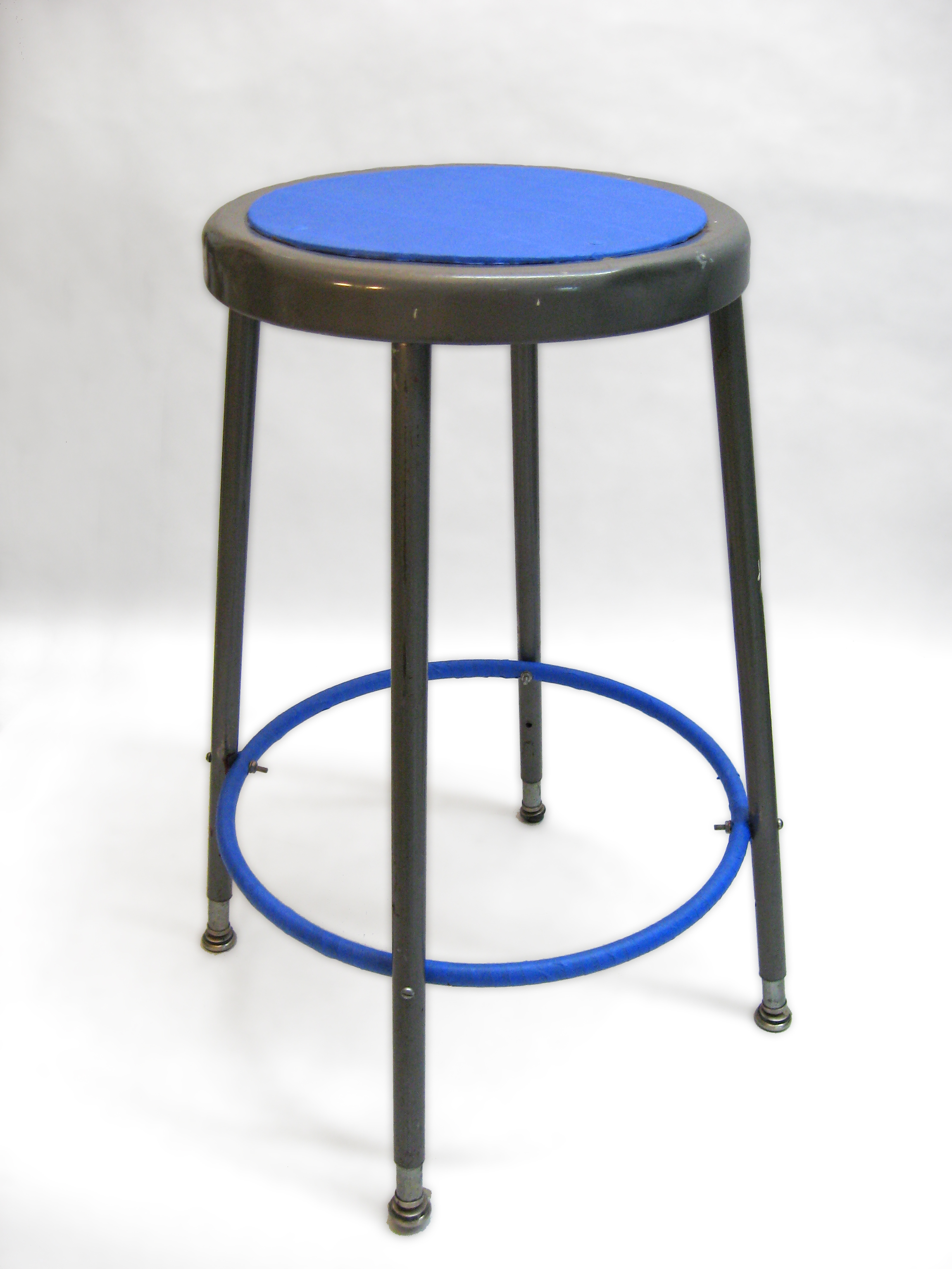 Artist Stools   Bringing Worn Down Studio Chairs To Life With Your Everyday  Painters Tape. Tape Was Carefully Placed On Areas Where The Body Makes  Contact ...