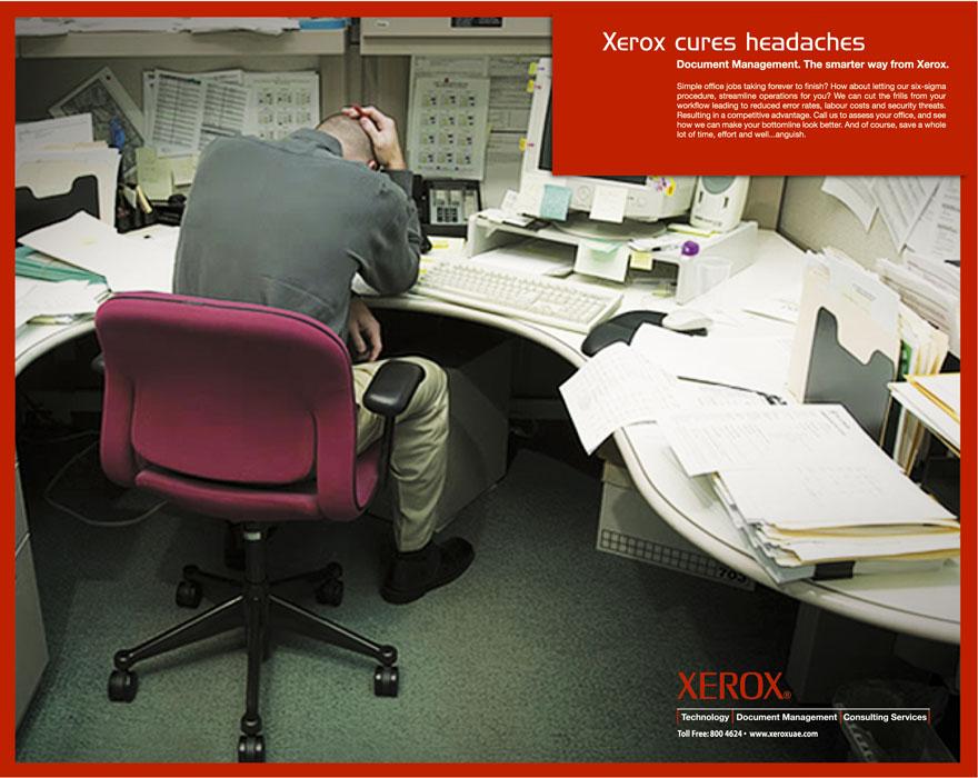 Xerox ad Xerox Cures ad 3