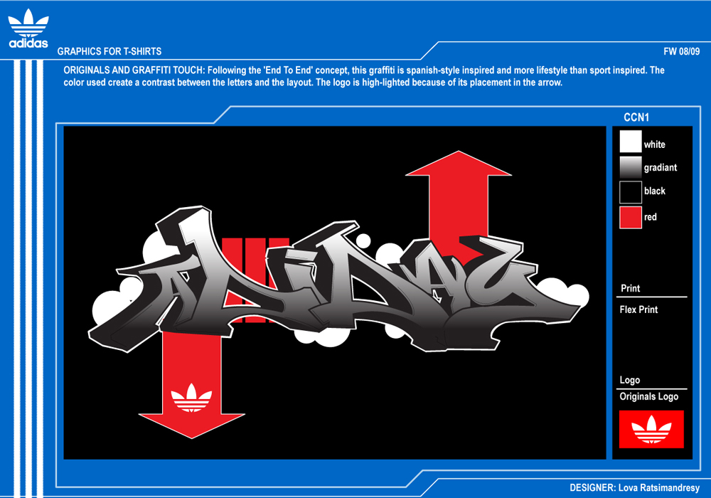 Graffitis de Adidas Logo Adidas Graffiti