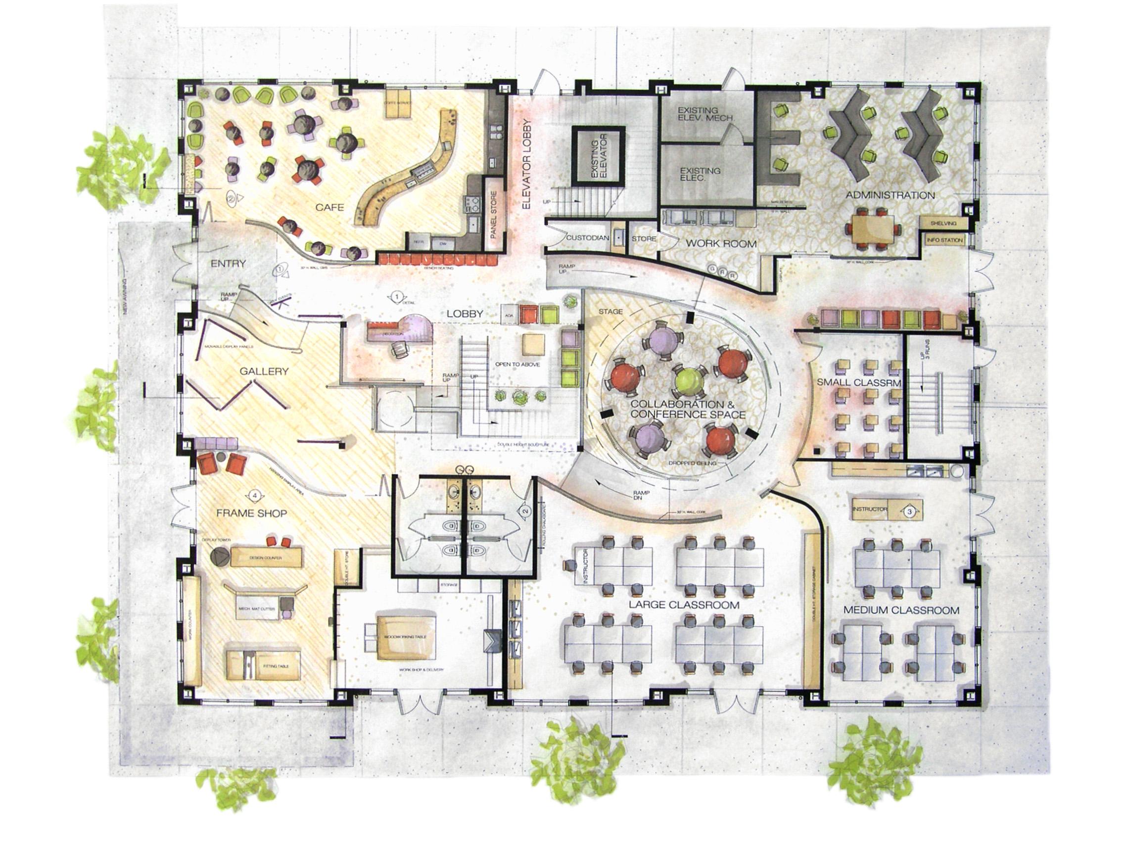 Kitchen Design Ideas For Community Center ~ Community center design by meredith goin at coroflot