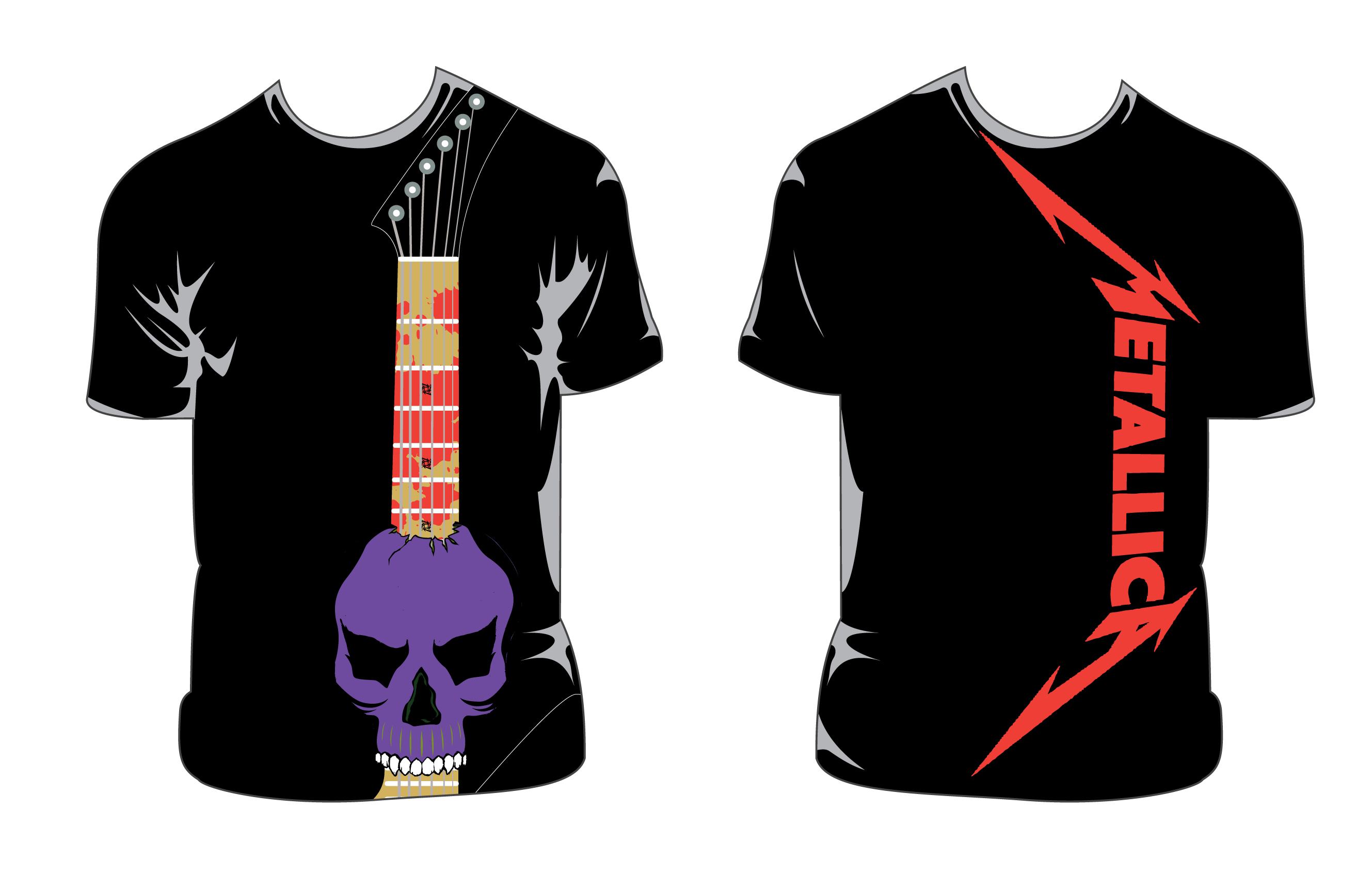 Design t shirt class - Metallica On Tour T Shirt This Is Part Of The Promotional Collateral I Designed For A Class Assignment Requiring Us To Design The Same For Our Favorite