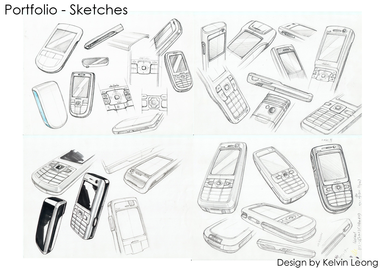 mobile phone industrial design sketches sketch coloring page