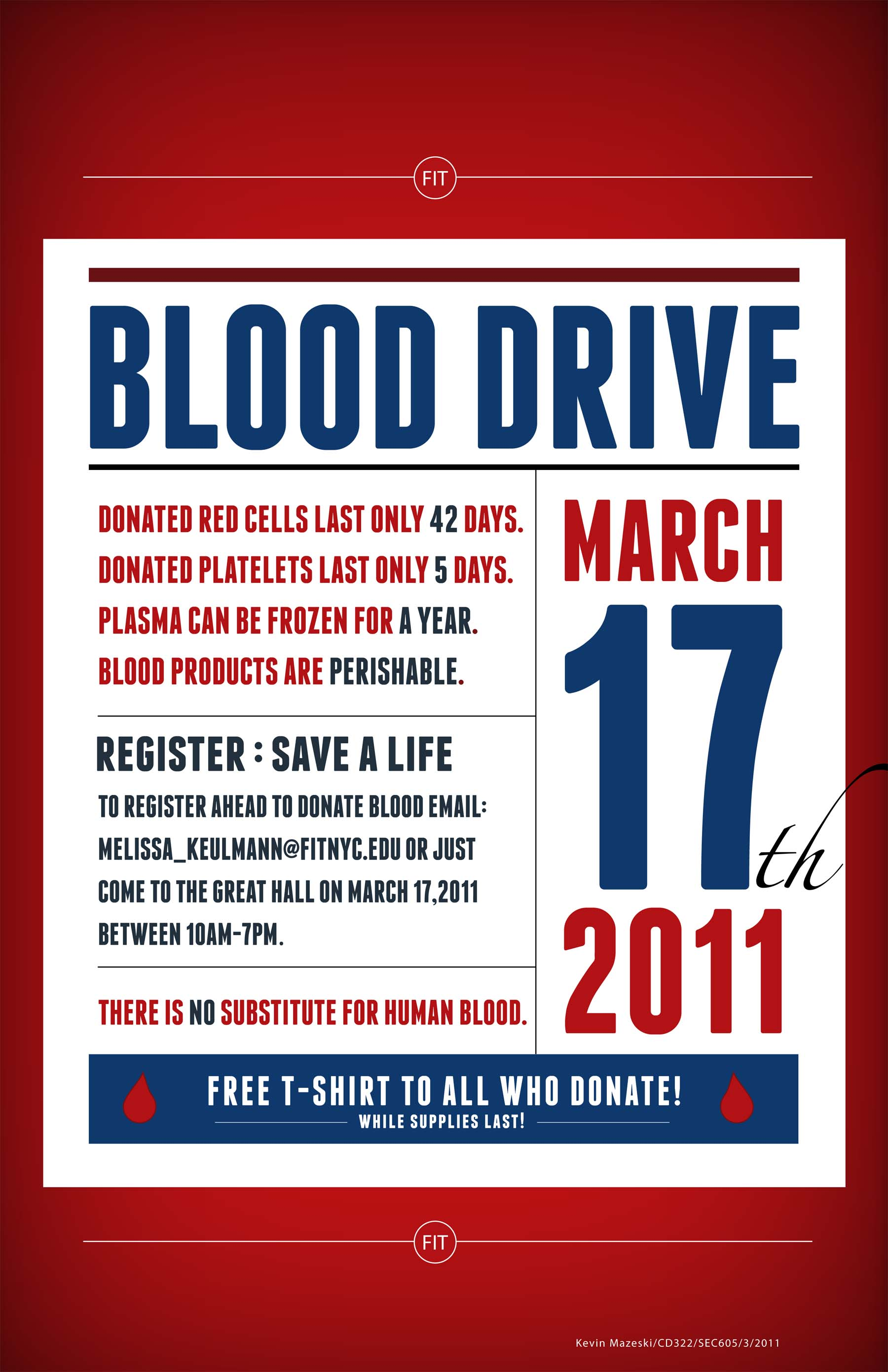Poster design on blood donation - H Favorite Qview Full Size