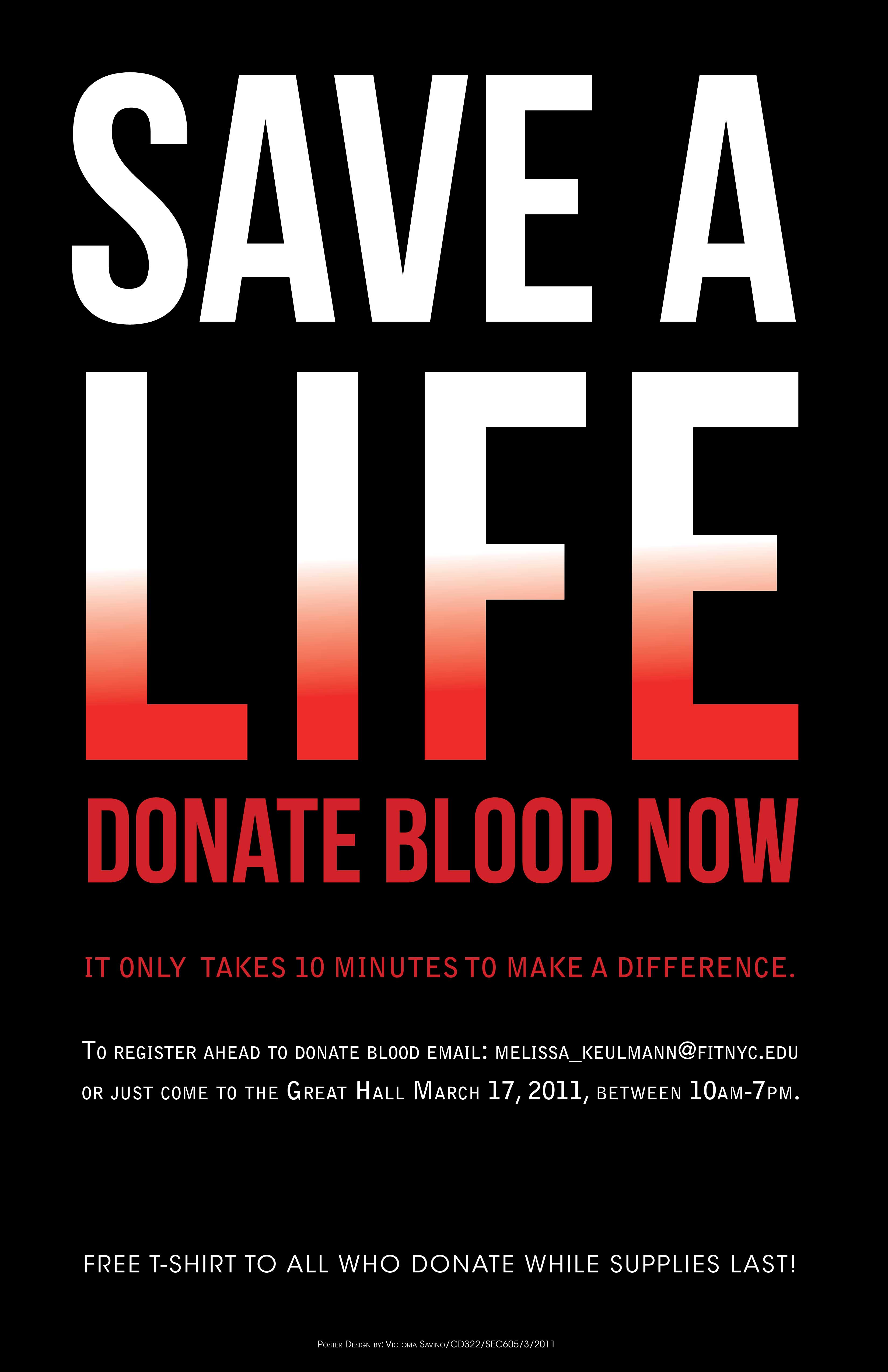 Poster design on blood donation - One Week To Do The Final Posters