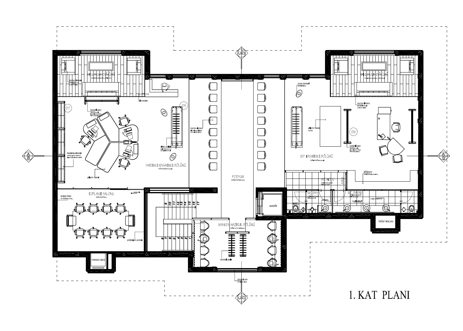 atil kutoglu fashion house istanbul by zeki erturk ural at floor plan of meeting rooms trend home design and decor