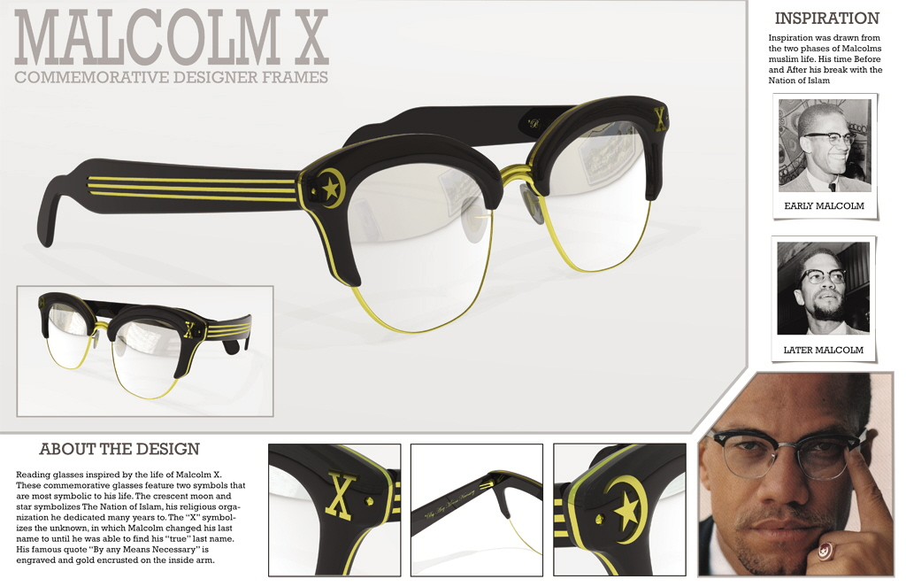 Eyeglasses MalcolmxFrame : School work by Yurri Mial at Coroflot.com