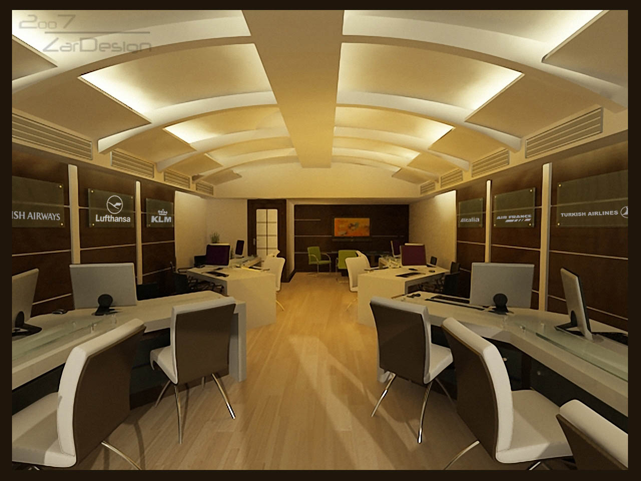 Shop design travel agency by shaghayegh sheri zarafshan for Interior design travel agency office