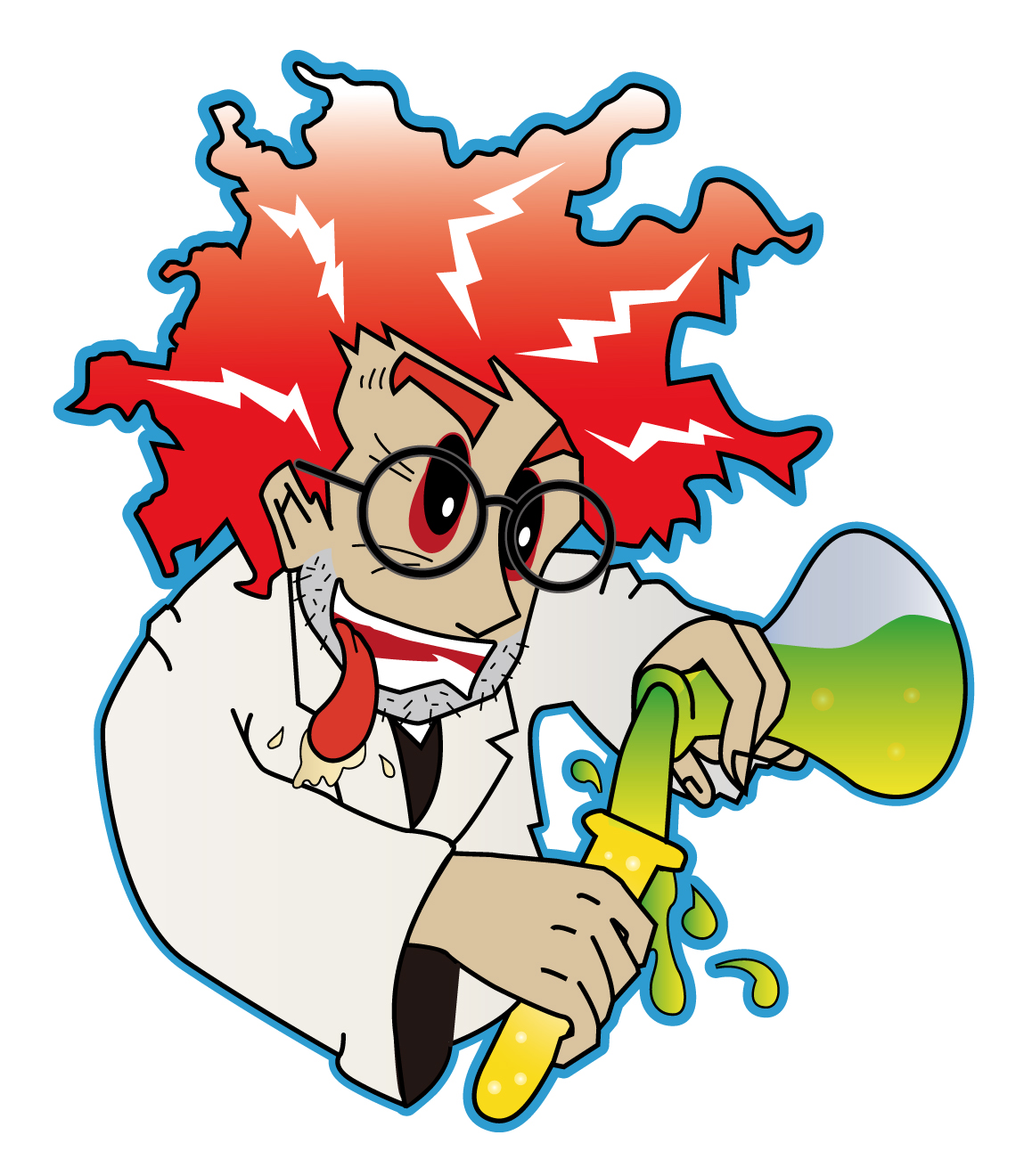 Mad Science Lab Clip Art Mad scientist - vector