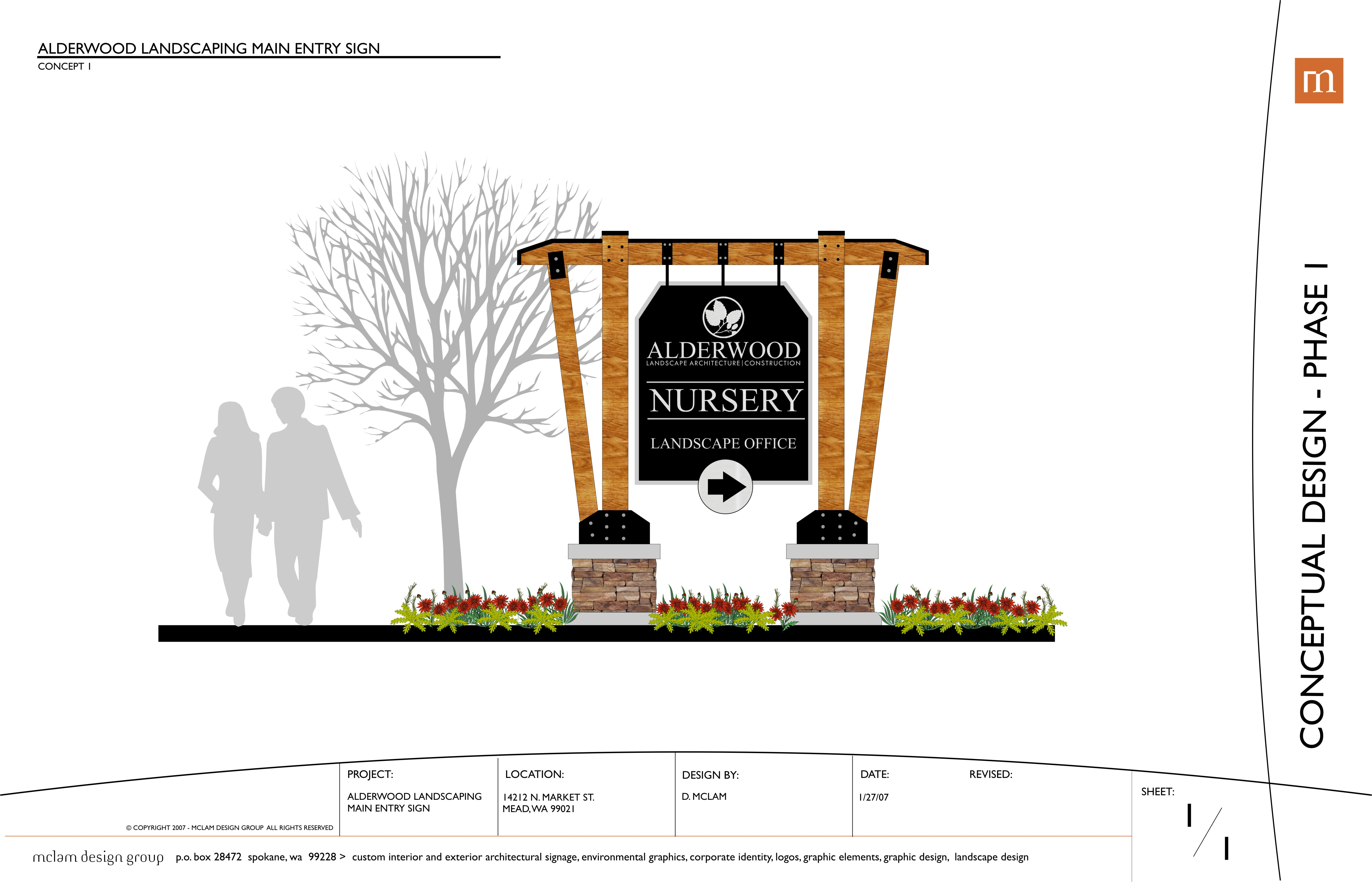 Architectural signage sign monuments and display design by dale mclam freelance at - Custom signs for home decor concept ...